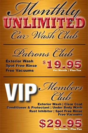 monthly car wash club